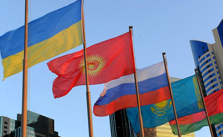 Флаги стран таможенного союза